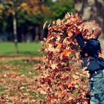 Children's Social Worker - Child Throwing Leaves